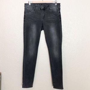 EUC Kut From the Kloth Grey Diana skinny jeans